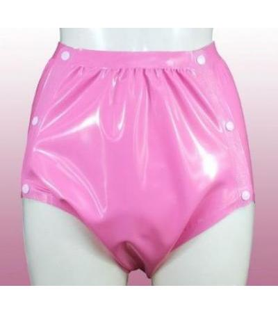 Latex Rubber Snap-on Pants