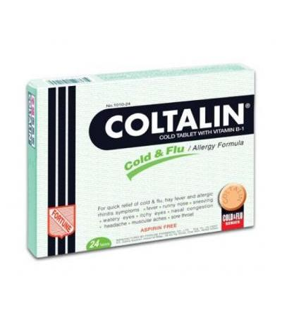 СOLTALIN cold tablet with vitamin B-1