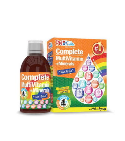 PNKids Multivitamins + Lysine Mango Syrup for Boys (250ml)