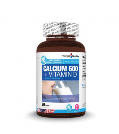 Principle Nutrition Calcium 600 + Vitamin D (60s)