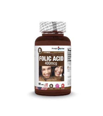 Principle Nutrition Folic Acid 400mcg