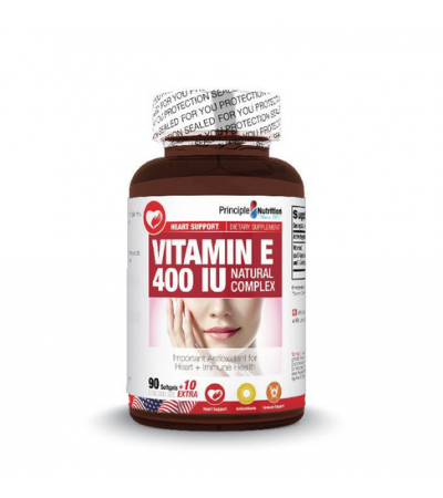 Principle Nutrition Vitamin E 400 IU Natural Complex (100s)