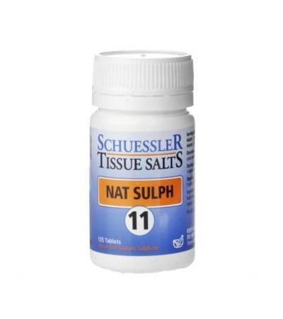Schuessler Tissue Salts Nat Sulph 11 125 Tablets