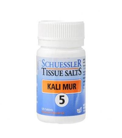Schuessler Tissue Salts Kali Mur 5 125 Tablets