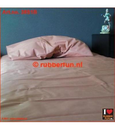 RUBBER BED SET 1B - BOTTOM SHEET PLUS PILLOW CASE Clinical red 0.45mm