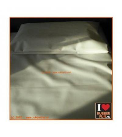 RUBBER BED SET 1B - BOTTOM SHEET PLUS PILLOW CASE Clinical white 0.45mm