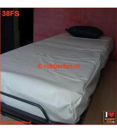 RUBBER BED SET 1F - FITTED SHEET PLUS PILLOW CASE clinical white 0.42mm
