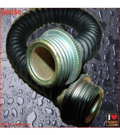 GAS MASK HOSE - 2X MALE CONNECTOR