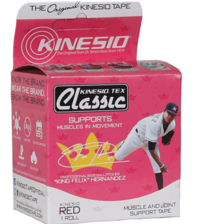 "KING FELIX KINESIO TEX CLASSIC - 2"" RED"