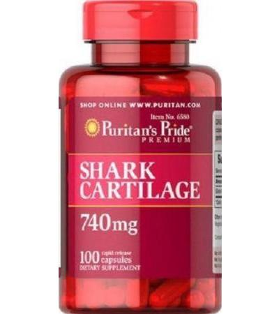 Puritan's Pride premium Shark Cartilage 740mg 100 capsules