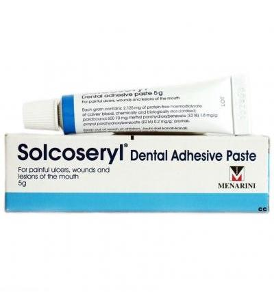 Solcoseryl Dental Adhesive Paste 5 g Ulcers Wounds Lesions Mouth Pain